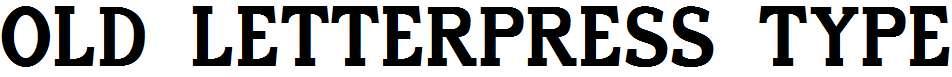 Old-Letterpress-TypeRegular