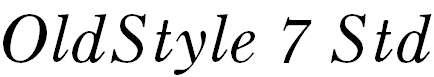OldStyle7Std-Italic