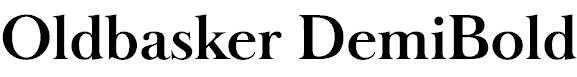 Oldbasker-DemiBold