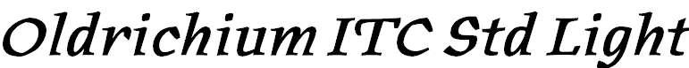 OldrichiumITCStd-Demi Italic