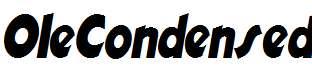 OleCondensed-Italic