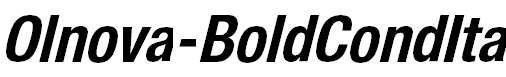 Olnova-BoldCondIta