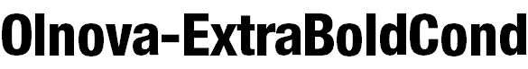 Olnova-ExtraBoldCond