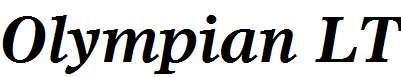 Olympian-LT-Bold-Italic