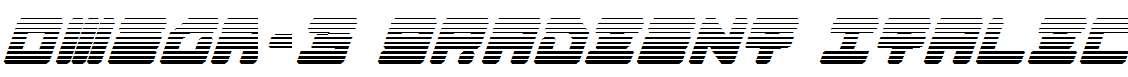 Omega-3-Gradient-Italic