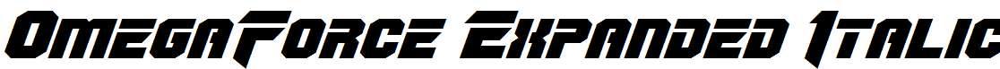 OmegaForce-Expanded-Italic