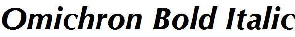 Omichron-Bold-Italic