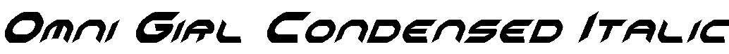 Omni-Girl-Condensed-Italic