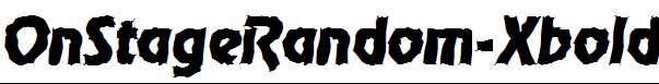 OnStageRandom-Xbold-Italic
