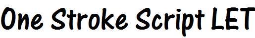 One-Stroke-Script-LET-Plain-
