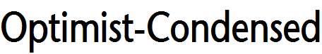 Optimist-Condensed-Bold-Italic