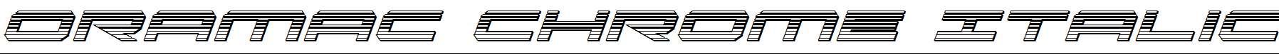Oramac-Chrome-Italic