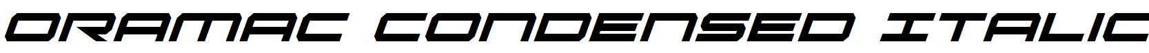 Oramac-Condensed-Italic