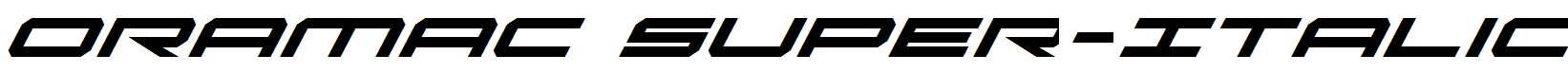 Oramac-Super-Italic