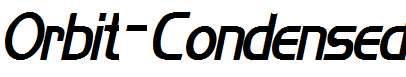 Orbit-Condensed-Bold-Italic