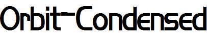 Orbit-Condensed-Bold