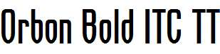Orbon-Bold-ITC-TT