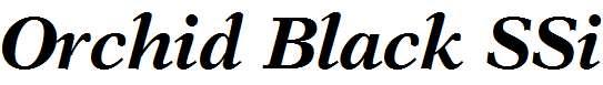 Orchid-Black-SSi-Bold-Italic