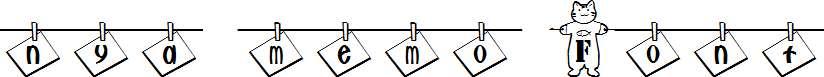 nya-memo-Font