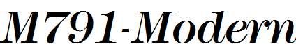 M791-Modern-Italic