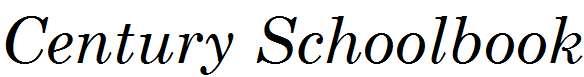 MCenturySchoolbook-Italic