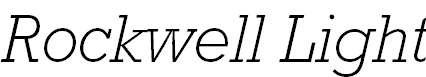 MRockwell-LightItalic