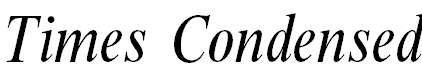 MTimes-CondensedItalic