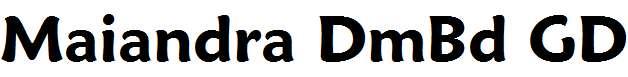 Maiandra-Demi-Bold-GD