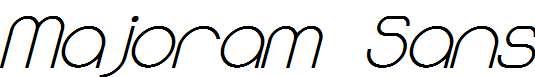 Majoram-Sans-Bold-Italic