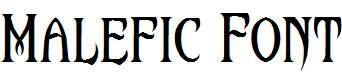 Malefic-Font