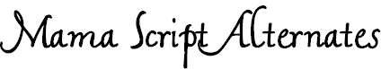 MamaScriptAlternates