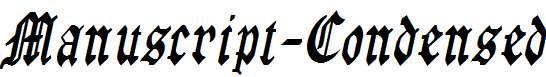 Manuscript-Condensed-Italic-1-