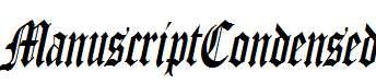 ManuscriptCondensed-Italic