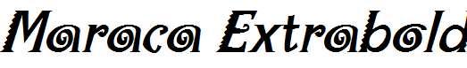 Maraca-Extrabold-Italic