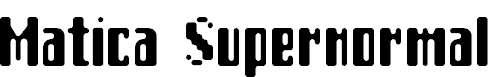 Matica-Supernormal
