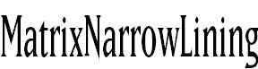 MatrixNarrowLining
