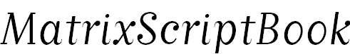 MatrixScriptBook