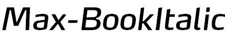 Max-BookItalic