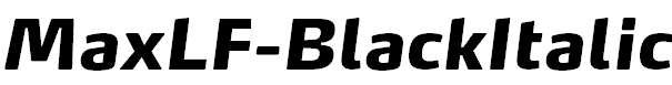 MaxLF-BlackItalic