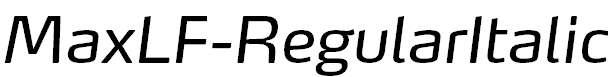 MaxLF-RegularItalic