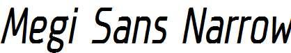 Megi-Sans-Narrow-Italic