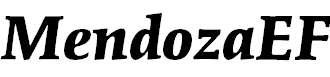 MendozaEF-BoldItalic