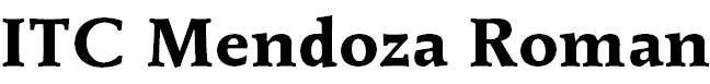 MendozaRoman-Bold