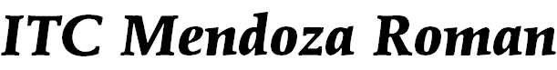 MendozaRoman-BoldItalic