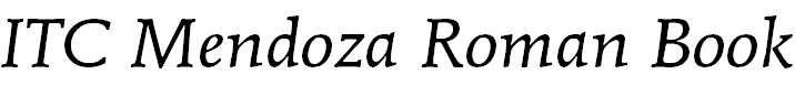 MendozaRoman-BookItalic