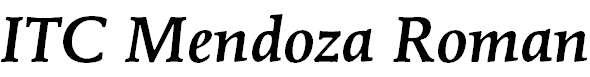 MendozaRoman-MediumItalic