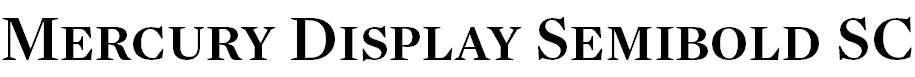 MercuryDisplay-SemiboldSC