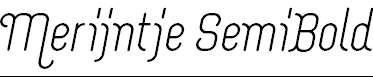 Merijntje-SemiBold-Italic