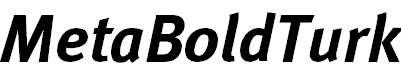 MetaBoldTurk-Italic