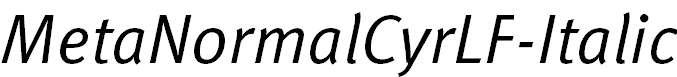 MetaNormalCyrLF-Italic